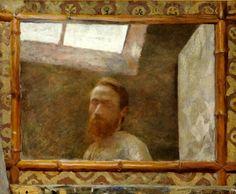 Self-Portrait in a Bamboo Mirror, Edouard Vuillard