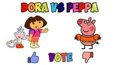 Dora VS Peppa Pig New color pages