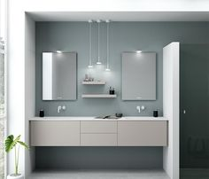 Dansani Calidris is a stylish Danish design for your bathroom. Check out the beautiful Calidris bathroom furniture at Dansani and get inspiration for your bathroom. Danish Design, Bathroom Furniture, Double Vanity, Cabinet, Mirror, Unique, Interior, House, Inspiration