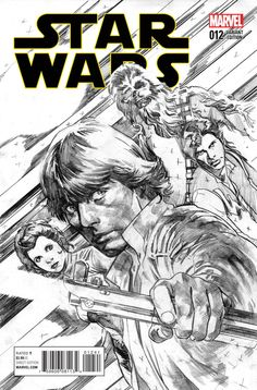 Marvel - Star Wars #12 Stuart Immonen Sketch Cover Variant