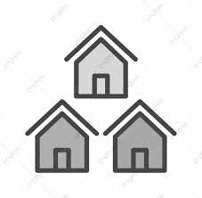Google Image Result For Https Png Pngtree Com Png Vector 20190701 Ourmid Pngtree Neighborhood Icon In Trendy House Outline Background Transparent Background