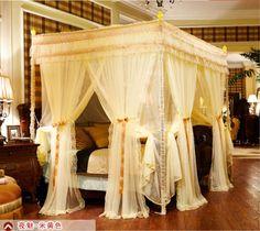 8-door-curtain-canopy-bracket-Mosquito-net-bed-queen-king-California-king-size