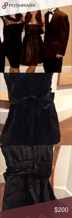 Alice + Olivia Strapless Bow Dress Gorgeous black strapless dress for any formal/cocktail affair. Only worn once! Alice & Olivia Dresses Strapless