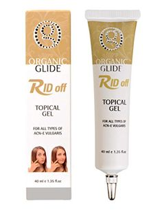 Organic Glide Acne Treatment Topical Spot Gel for Acne Pimples  Blackheads Treatment with Dead Sea Mineral Salt  Nettle  Ginger  Bamboo  Lemongrass  Canadian Willow Herb 40ml *** You can get additional details at the image link.
