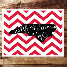 NC State University Print by evannicoledesigns on Etsy, $15.00