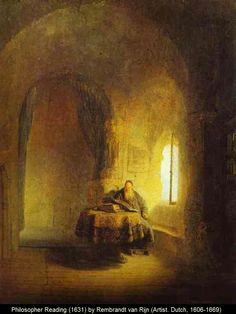 off Hand made oil painting reproduction of Philosopher Reading, one of the most famous paintings by Rembrandt Van Rijn. Philosopher Reading is an artwork from At this point in life, Rembrandt had already painted some essential pie. Chiaroscuro, Baroque Painting, Baroque Art, Caravaggio, List Of Paintings, Wood Paintings, Rembrandt Paintings, Rembrandt Art, Art Occidental