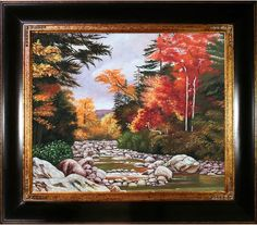 Overstock Art Autumn Tints in the White Mountains by Marianne North (Framed Canvas)