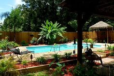 Recycled Inground Pool Paradise :: Hometalk~ bought on Craigslist & installed themselves!