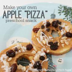 Apple Pizza Snack Activity for Preschool