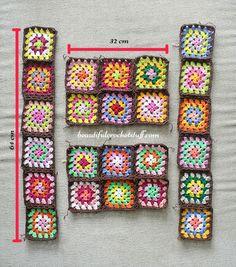 Granny Squares Cardigan Pattern (Terminé) Granny Squares Cardigan Pattern (Done) Crochet Granny Square Cardigan Pattern Point Granny Au Crochet, Granny Square Crochet Pattern, Crochet Squares, Crochet Motif, Crochet Designs, Crochet Stitches, Crochet Patterns, Beau Crochet, Slip Stitch Crochet