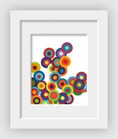 06 Paint Chip Circles Mixed 11x14 A - 07