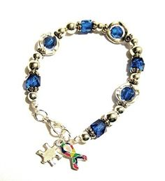 Autism Awareness Silver Circles Charm Bracelet