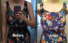 Newest blog post about my first time altering a dress. I took it in on the sides under the arms and am so happy with how it turned out! #sewing #diy