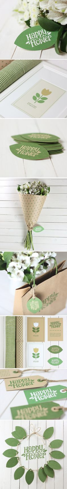 Happy Flower, Identity © Serg Tropov Simply love this #packaging #branding #marketing PD