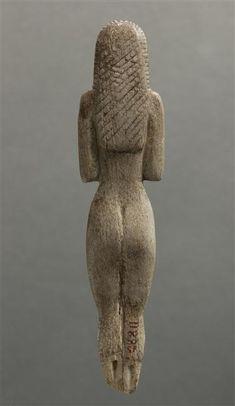 Figurine féminine nue - vue de dos., Nagada I, 3800-3500 av J.-C. Egypte.