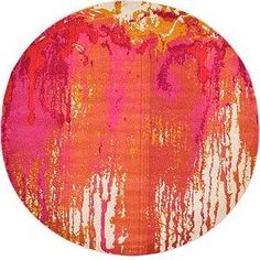 8 Ft Rounds Orange Rugs | eSaleRugs