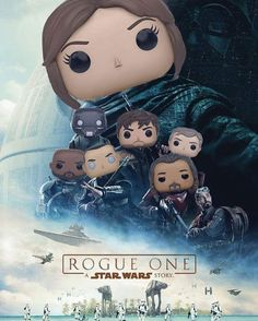 "8,210 Likes, 57 Comments - Funko Pop! Vinyl Fan Page (@popvinyl) on Instagram: ""New #StarWars #RogueOne poster (with some #funko ❤️ ) #Funko series now available LINK IN BIO -…"""