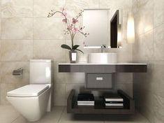 Decorando con #orquídeas el cuarto de #baño