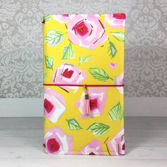 Traveler's Notebook/Fabric fauxdori in Pink Roses