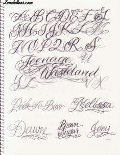 Letras Para Tatuajes Cursiva Abecedario 6 426x Lettering TattooTattoo FontsScript