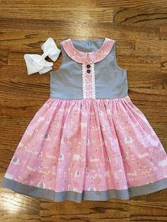 Pepper Frocks For Girls, Little Girl Outfits, Little Girl Dresses, Baby Boy Outfits, Kids Outfits, Simple Frocks, Sewing Kids Clothes, Baby Dress Patterns, Toddler Dress
