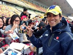 """Via Twitter: """"@SauberF1Team: Check out this stud on the picture here :) @FelipeNasr having fun during the autograph session at #ChineseGP #F1"""
