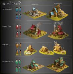 "ArtStation - Concept art for the game ""Universim"", Dhruv Chakkamadam"