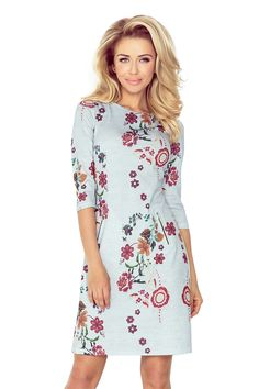 Numoco Dress with zippers - Gray + flowers Latest Fashion Trends, Trendy Fashion, Fashion News, Zipper Flowers, Day Dresses, Summer Dresses, Printed Linen, Camden, Fashion Company
