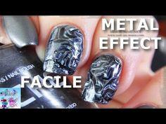 Tuto: Nail Art Effet Métal Froissé FACILE! - YouTube