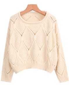 Apricot Long Sleeve Hollow Knit Sweater - Apricot Long Sleeve Hollow Knit Sweater Best Picture For fashion outfits For Your Taste You - Aztec Print Cardigan, Winter Maternity Outfits, Knit Fashion, Fashion Outfits, Winter Sweaters, Cardigans For Women, Knitwear, Cute Outfits, Clothes For Women