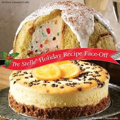 We're excited to announce the first round of our Holiday Recipe Face-Off!  Vote for your favourite Ricotta recipe for a chance to win $25 in Tre Stelle grocery vouchers.  Click on the image to enter! Face Off, Holiday Cakes, Cannoli, Sweet Bread, Holiday Recipes, Cheesecake, Breads, Desserts, Ricotta