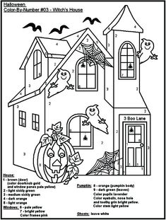 halloween coloring by number pages 334 Best Halloween/Fall Color By Number and unnumbered coloring  halloween coloring by number pages
