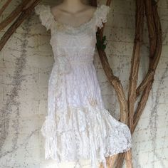vintage inspired cotton shabby chic dress..small to 36 by wildskin, $75.00