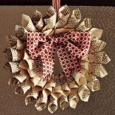 - diy fourni en photo - bricolage de Noël couronne de porte en papier avec noeud
