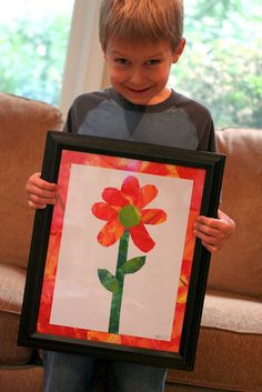 Planted by Streams: The Tiny Seed : Eric Carle Inspired Art-Great parent gift idea! Summer Art Projects, Toddler Art Projects, School Art Projects, Projects For Kids, Tiny Seed Activities, Art Activities, Sequencing Activities, Eric Carle, Kindergarten Art