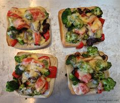 Style Me Green: MUSHROOM BROCCOLI AND RED PEPPER MELTS