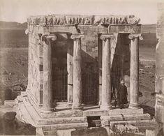 The temple of Nike Apteros Konstantinos Athanasiou 1875 Temple, Nike, Painting, Art, Art Background, Temples, Painting Art, Kunst, Paintings