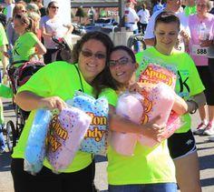 Cotton Pickin' volunteers at the 1k Cotton Candy Fun Run, Run - Walk - Stroll - Give hope! www.fayettecares.org/cottonpickin5k