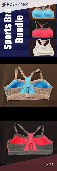 Champion & Old Navy Sports Bras All three sold together. All XL, Champion bra are max support, the Old Navy medium support. All gently used. Champion Intimates & Sleepwear Bras