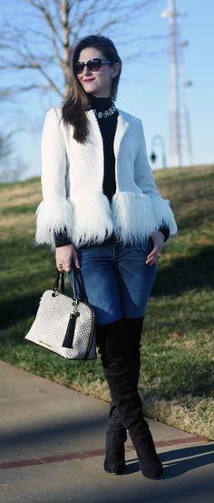 Teodoras Lookbook faux fur jacket outfit