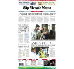 The front page of The Herald News for Thursday, March 6, 2014. #fallriver