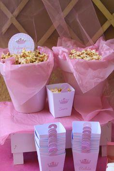 Popcorn: Cumpleaños con temática de princesa en rosa para niña - Pink princess themed girl party