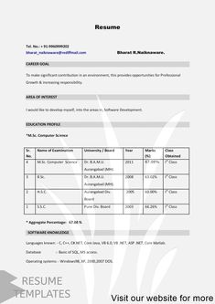 Resume Template Free Resume Template Professional Download Resume Format Professiona In 2020 Simple Resume Template Resume Cover Letter Examples Resume Template Word