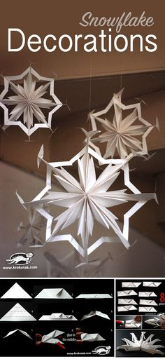 Paper Snowflake Decorations                                                                                                                                                                                 More