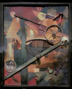 | Kurt Schwitters | Construction for Noble Ladies, 1919. Mixed media. LACMA   (Los Angeles County Museum of Art.) Photo by rocor via flickr.