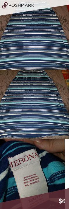 Maxi Skirt Multi blue stripped maxi skirt by Merona Sz XXL Good condition Merona Skirts Maxi