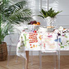 VEGETABLE PRINT TABLECLOTH AND NAPKIN - Tablecloths & Napkins - Tableware | Zara Home United Kingdom