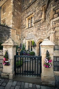 Windsor Castle ~ the private entrance at the royal residence at WIndsor in the English county of Berkshire.