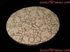 photo tutorial How to make Cake boards