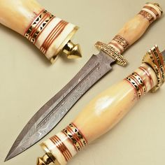 BEAUTIFUL CUSTOM HAND MADE DAMASCUS STEEL HUNTING DAGGER KNIFE WORK OF ART #BuytheBest